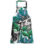 Kaalimets� apron, white-green-purple