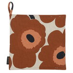 Pieni Unikko pot holder, cotton - chestnut