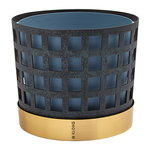 Trio flower pot, blue square
