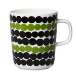 Oiva - Siirtolapuutarha mug 2,5 dl, white-green-black