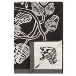 Tiara bath towel, black-white