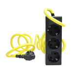 Nud Extend 3-way extension cord, empire yellow