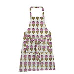 Vihkiruusu apron, off white - pink - dark blue