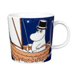 Moomin mug, Moominpappa, dark blue
