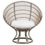 Luna Exterior sunchair, moccachino - white