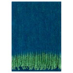 Revontuli mohair blanket, green - blueberry