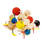 Bau lamp large, multi colour