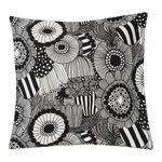 Pieni Siirtolapuutarha cushion cover, off white-black