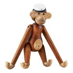 Wooden monkey and student cap