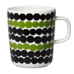 Oiva - Siirtolapuutarha Räsymatto mug 2,5 dl, green-black