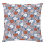 Tulppaani cushion cover 45 x 45 cm, cinnamon - blue