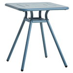 Ray café table 65 cm, square, blue
