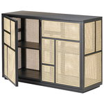 Air sideboard, black - cane