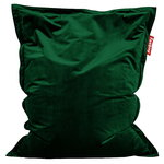 Original Slim Velvet bean bag, emerald green