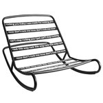 Rock 'n Roll rocking chair, black