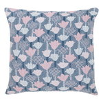 Tulppaani cushion cover 45 x 45 cm, rose - blue