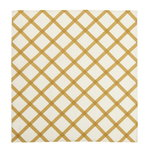 Quilt tea towel/napkin, natural white - straw