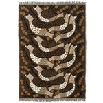 Kiiruna throw, black-brown-white