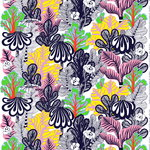 Kaalimets� fabric, white-pink-yellow