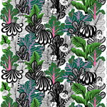 Kaalimets� fabric, white-green-purple