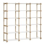 Woody high shelving system, white