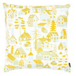 Mökkilä cushion cover, yellow