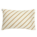 Mint cushion cover, gold, white
