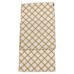Quilt runner, natural white - gold