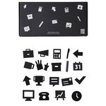 Office icons for message board, black