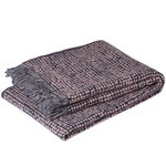 Orkanen blanket, pink - dark blue