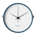 Henning Koppel wall clock, 22 cm, blue - white