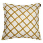 Quilt cushion cover natural white - gold