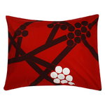 Hortensie pillowcase, red-plum-white