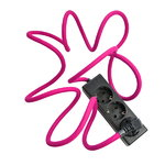 N.U.D. Collection Nud Extend 3-way extension cord, cerise