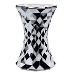 Stone stool, chrome