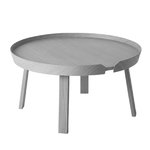 Around coffee table, large, grey