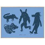 MADO Four Creatures juliste, 50 x 70 cm, sininen
