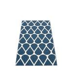 Otis rug 70 x 140 cm, ocean blue - vanilla