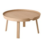 Around coffee table, large, oak