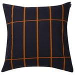 Tiiliskivi cushion cover 50 x 50 cm, dark blue - copper