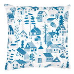 Mökkilä cushion cover, blue
