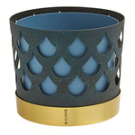 Trio flower pot, blue drop