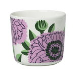 Oiva - Primavera coffee cup w/o handle 2 dl, 2 pcs, white-lilac-