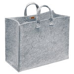 Meno home bag large, grey felt