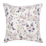 Rabbit cushion cover, linen, white