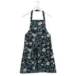 Pieni Tiara apron, blue-green-grey