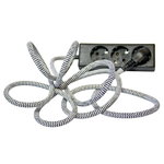 Nud Extend 3-way extension cord, zick zack