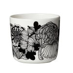 Oiva - Siirtolapuutarha coffee cup 2 dl, black-white