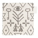 Maailman synty pot holder/trivet, white