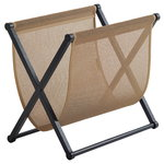 Magazine rack, black oak - natural